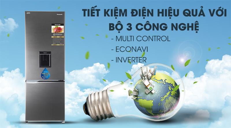 Tủ lạnh Panasonic Inverter 322 lít NR-BV360WSVN tiết kiệm năng lượng