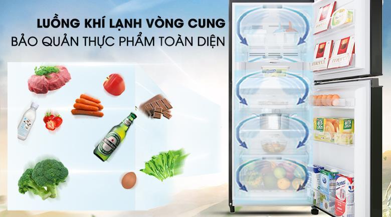 Tủ lạnh Toshiba Inverter 180 Lít GR-B22VU UKG khí lạnh vòng cung
