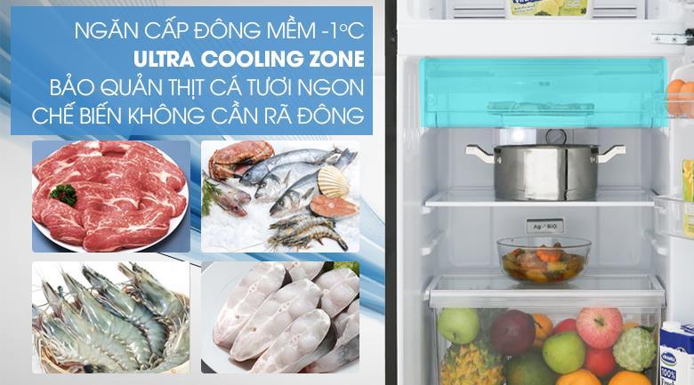 Tủ lạnh Toshiba Inverter 180 Lít GR-B22VU UKG ngăn cấp đông mềm