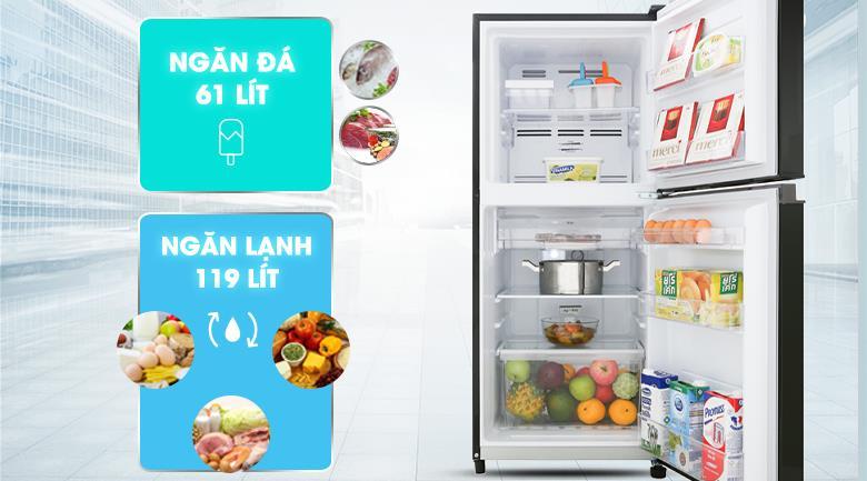 Tủ lạnh Toshiba Inverter 180 Lít GR-B22VU UKG thiết kế nhỏ gọn