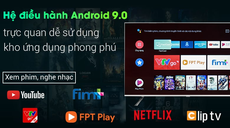 Android Tivi Casper 55UG6000 55 inch 8