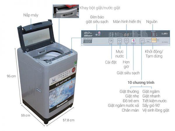 Máy giặt Panasonic NA-F80VS9GRV 8 kg 5