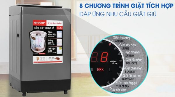 Máy giặt Sharp ES-W110HV-S 11 kg 11