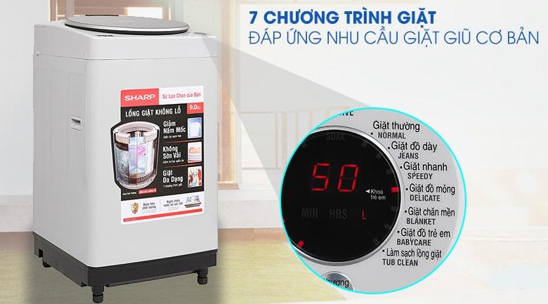 Máy giặt Sharp ES-W90PV-H 9 kg 11