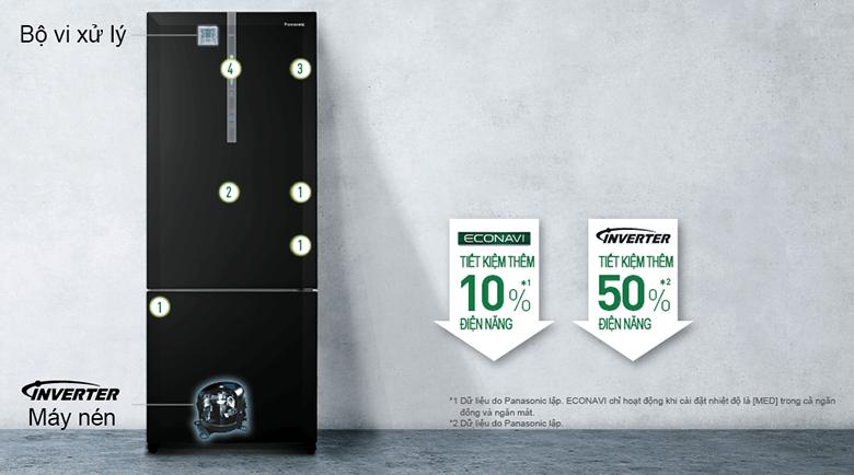 Tủ lạnh Panasonic NR-BX460XKVN Inverter 410 Lít 6