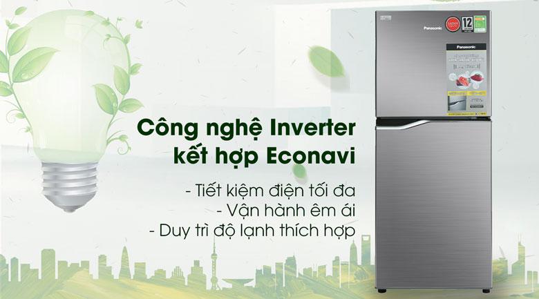 Tủ lạnh Panasonic Inverter 167 lít NR-BA189PPVN công nghệ inverter
