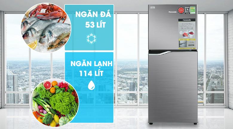 Tủ lạnh Panasonic Inverter 167 lít NR-BA189PPVN dung tích rộng