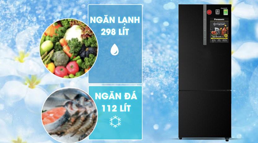 Tủ lạnh Panasonic Inverter 410 Lít NR-BX460XKVN dung tích lớn