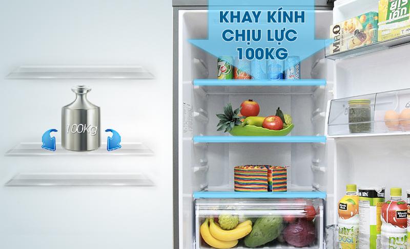 Tủ lạnh Panasonic Inverter 410 Lít NR-BX460XKVN kính chịu lực
