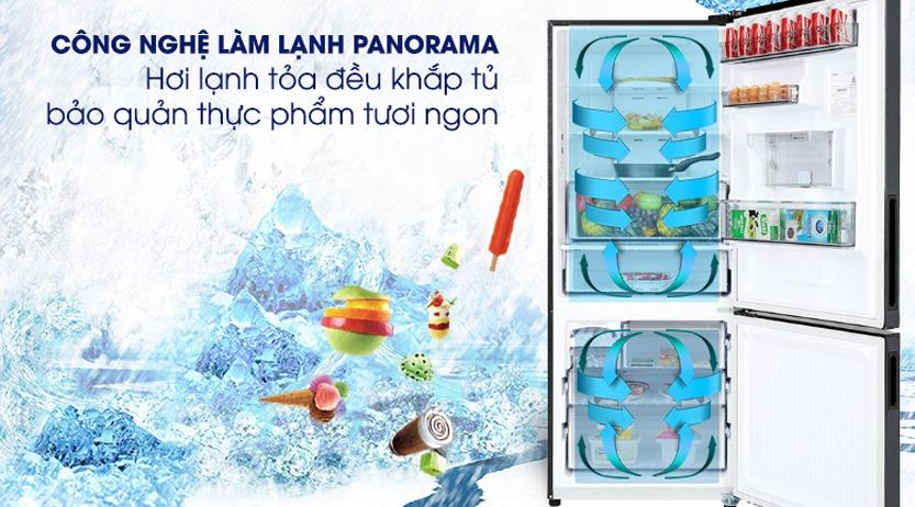 Tủ lạnh Panasonic Inverter 410 Lít NR-BX460XKVN làm lạnh panorama