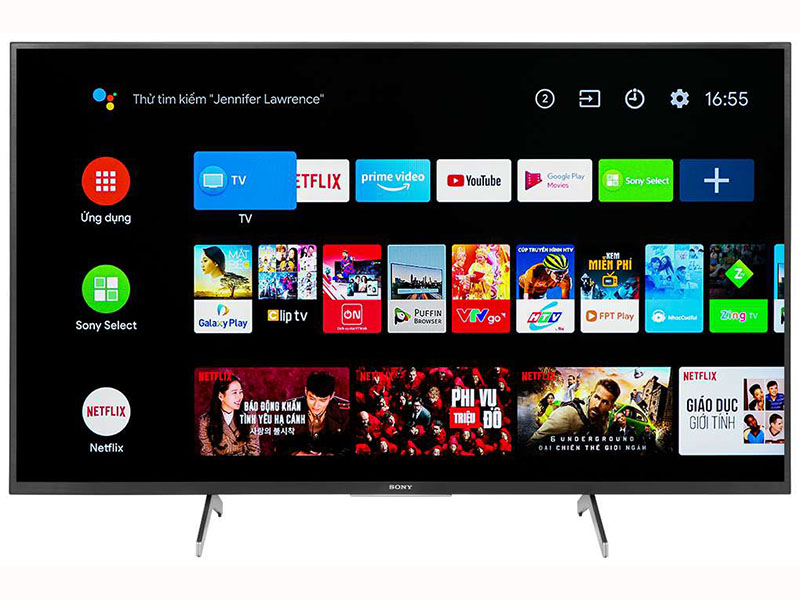 Android Tivi Sony KD-49X8050H 4K 49 inch 1