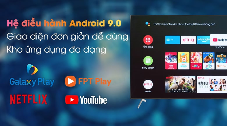 Android Tivi Sony KD-49X8050H 4K 49 inch 10