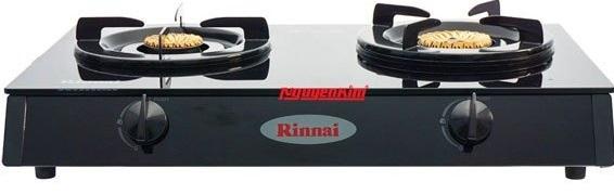 Bếp gas Rinnai RV-6DOUBLE GLASS (L) thiết kế đẹp