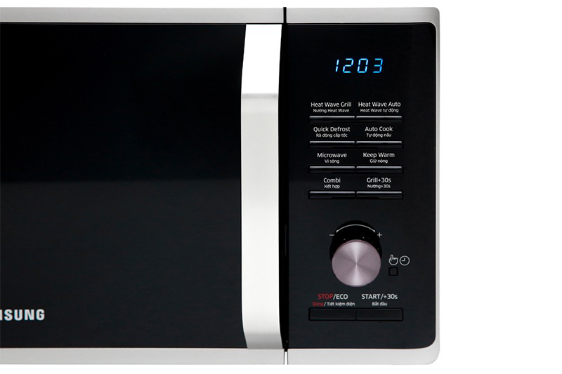 Đa dạng chức năng: nấu, hâm nóng, rã đông,nướng, kèm bảng điều khiển điện tử hiện đại, dễ dùng hơn nhờ có tiếng Việt