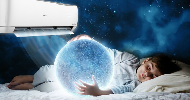 Điều hòa Casper vận hạnh êm ái cho bạn giấc ngủ ngon