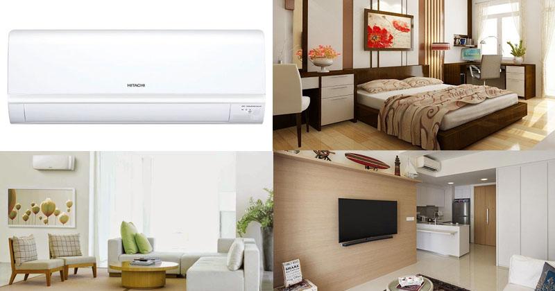 Điều hòa Hitachi phù hợp với nhiều căn phòng khác nhau