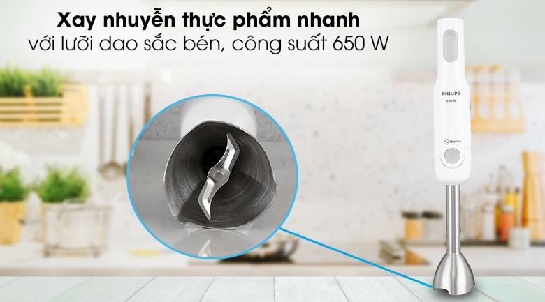 Máy xay sinh tố cầm tay Philips HR2531 lưỡi dao chữ S