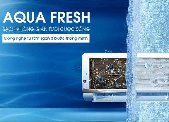 Điều hòa AQUA Inverter 1.0 HP AQA-KCRV9WNM công nghệ tự làm sạch