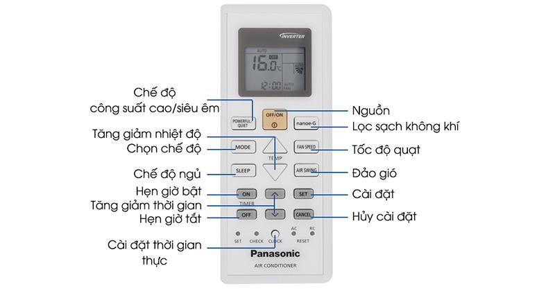 Hướng dẫn sử dụng điều hoà Panasonic an toàn hạn chế được Virus nguy hiểm remote