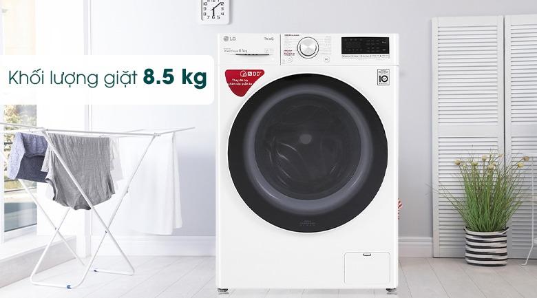 Máy giặt LG Inverter 8.5 kg FV1408S4W phù hợp 3-5 thành viên