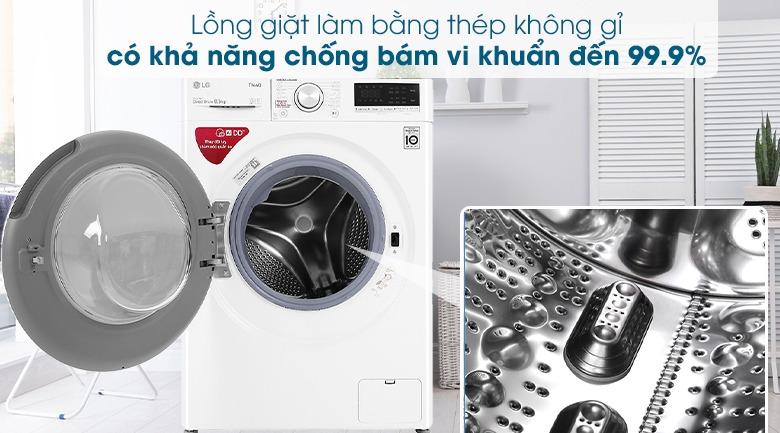 Máy giặt LG Inverter 8.5 kg FV1408S4W thép chống gỉ