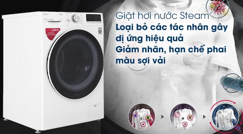 Máy giặt LG Inverter 8.5 kg FV1408S4W loại bỏ tác nhân gây dị ứng