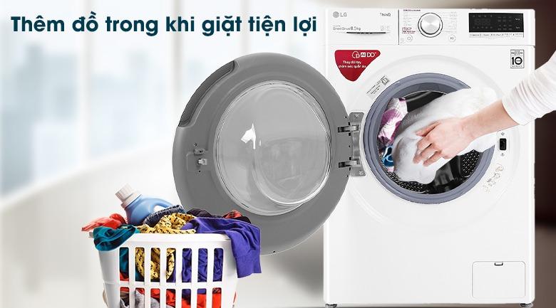 Máy giặt LG Inverter 8.5 kg FV1408S4W giặt tiện lợi