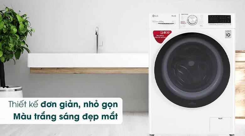 Máy giặt LG Inverter 8.5 kg FV1408S4W thiết kế đơn giản