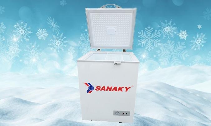 Tủ đông Sanaky Inverter 100 Lít VH-1599HY-KD dddeiefu chỉnh nhiệt độ
