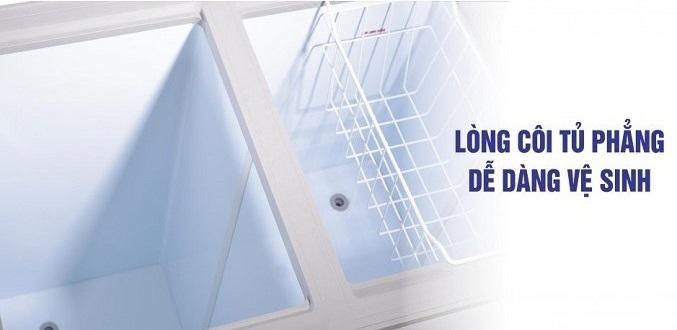 Tủ đông Sanaky Inverter 100 Lít VH-1599HY-KD lòng tủ rộng