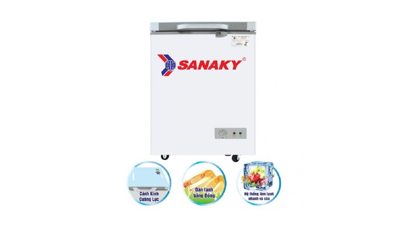 Tủ đông Sanaky Inverter 100 Lít VH-1599HY-KD thiết kế mới