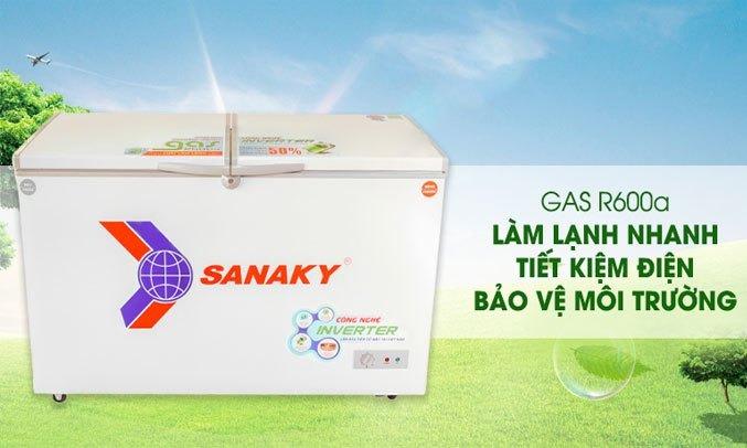 Tủ đông Sanaky Inverter 235 lít VH-2899A4K thân thiện môi trường