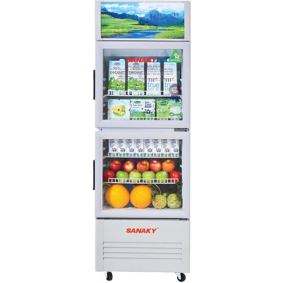 Tủ mát Sanaky Inverter 170 Lít VH-218WL thiết kế hiện đại