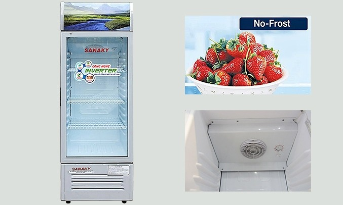 Tủ mát Sanaky Inverter 290 Lít VH-358K3 không đóng tuyết