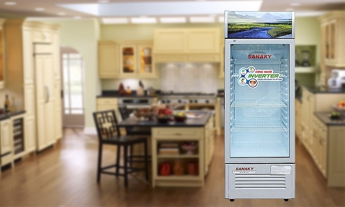 Tủ mát Sanaky 290 lít VH-358K3 màu trắng sưởi kính thông minh