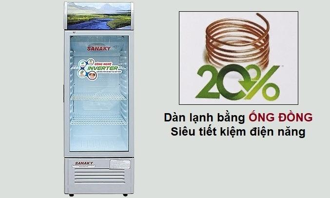 Tủ mát Sanaky Inverter 290 Lít VH-358K3 làm lạnh nhanh