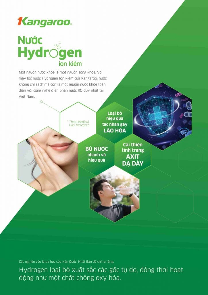 Máy lọc nước Kangaroo Hydrogen Slim nóng lạnh KG10A6S 5