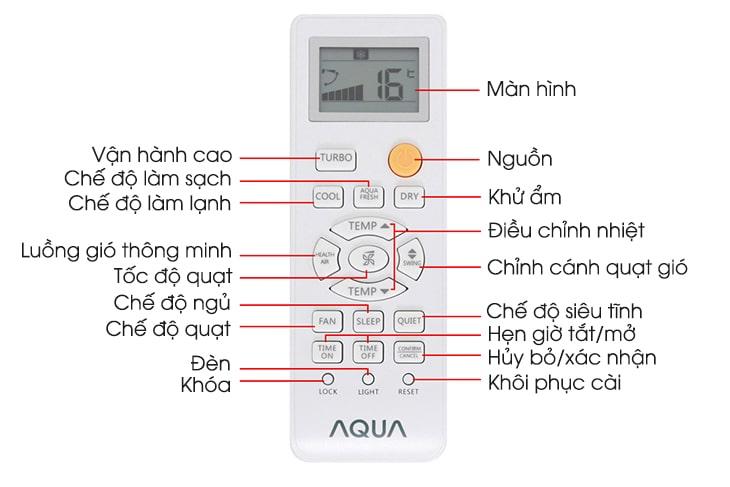 điều khiển điều hòa aqua
