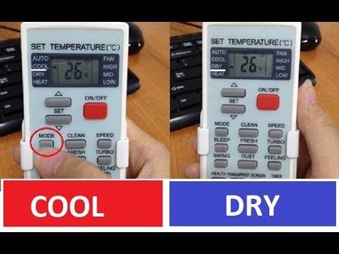 Chế độ Cool và Dry điều hoà