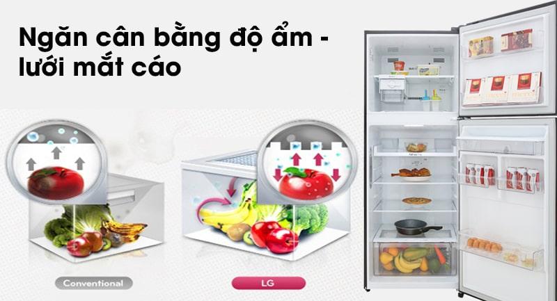 Tủ lạnh LG Inverter 393 lít GN-D422BL 14
