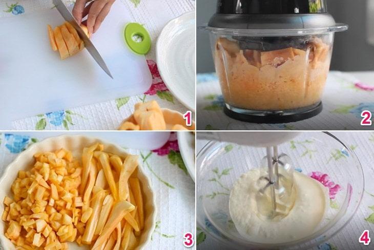 Các bước thực hiện kem mít với máy xay sinh tố