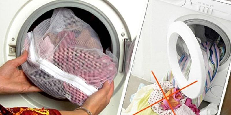 Không dùng túi giặt chuyên dụng