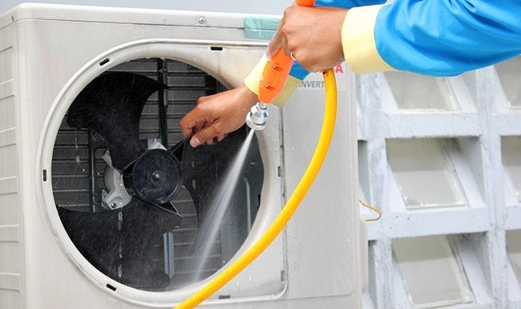Không vệ sinh cục nóng máy lạnh