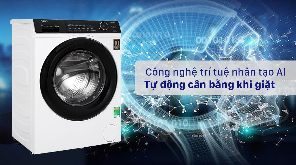 Máy giặt Aqua Inverter 9KG AQD-A900F W 8