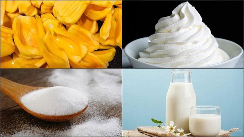 Nguyên liệu và dụng cụ cần chuẩn bị để làm kem mít